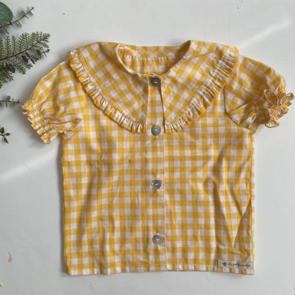 camisa cuello bobo niña Vichy